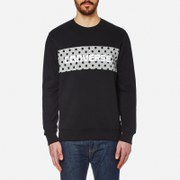 Converse Men's Dots Pattern Crew Neck Sweatshirt - Black