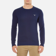 GANT Men's Cotton Pique Crew Knit Jumper - Persian Blue
