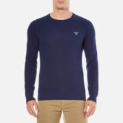 GANT Men's Cotton Pique Crew Knit Jumper - Persian Blue