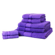 Restmor 100% Cotton 7 Piece Towel Bale (450 GSM) - Purple