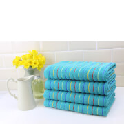 Restmor 100% Cotton 4 Pack Bath Sheets (500 GSM) - Teal