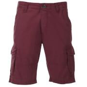 Pantalón corto cargo Threadbare Hulk - Hombre - Granate