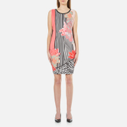 Versace Jeans Women's Printed Dress - Shock Pink