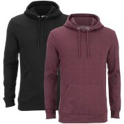 Smith & Jones Men's Rooski 2 Pack Hoody - Black/Burgundy