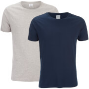 Smith & Jones Men's Purlin 2 Pack T-Shirt - Navy/Grey