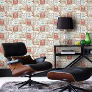 Fresco Happy Hour Vintage Wine and Spirit Labels Wallpaper