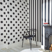 Superfresco Easy Kids' Monochrome Black/White Stripe Wallpaper