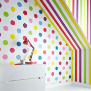 Superfresco Easy Kids' Brights Stripe Wallpaper