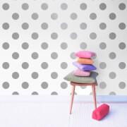 Graham & Brown Kids' Dotty Spot Silver Metallic Wallpaper