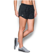 Under Armour Women's Fly By Printed Run Shorts - Black/Anthracite