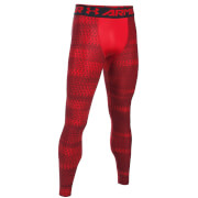 Under Armour Men's HeatGear Armour Printed Compression Tights - Red/Black