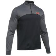 Under Armour Men's Armour Fleece 1/4 Zip Long Sleeve Top - Black/Carbon Heather