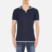 Orlebar Brown Men's Erick Tipped Polo Shirt - Navy/White Tipping