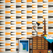 Wayne Hemingway Geometric Carnival Zest Multi Wallpaper
