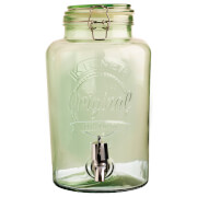 Kilner Round Clip Top Drinks Dispenser - Green 5L