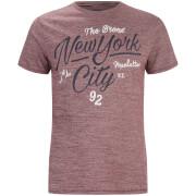 Camiseta Threadbare Brady - Hombre - Granate