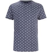 Threadbare Men's Etna Palm Tree Print T-Shirt - Navy