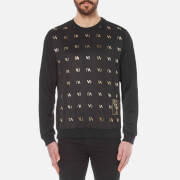 Versace Jeans Men's Small Logo Crew Sweater - Nero