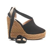Castaner Women's Nerea Wedged Espadrille Sandals - Black