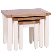 Vancouver Expressions Linen Nest of 3 Tables