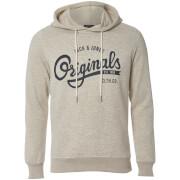Sweat à Capuche Homme Originals Hawl Logo Jack & Jones - Blanc Cassé