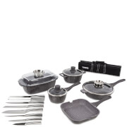 Tower 16 Piece Pro Cerastone Die Cast Pan Set - Grey