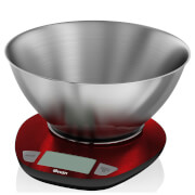 Swan Electronic Kitchen Scale with Bowl - Red
