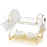 Swan 2 Tier S Shape Dish Rack - Cream