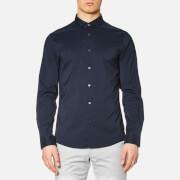 Michael Kors Men's Slim Cotton/Nylon Stretch Shirt - Midnight