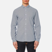 Michael Kors Men's Slim Long Sleeve Mk Collar Shirt - Midnight Blue