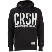 Crosshatch Herren Birchtree Logo Hoody - Jet Black