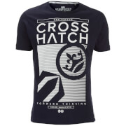 Crosshatch Herren Kilo Textured T-Shirt - Night Sky