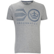 Crosshatch Herren Briscoe Logo T-Shirt - Brindle