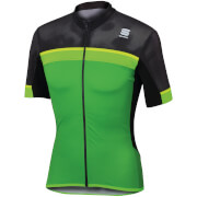 Sportful Pista Short Sleeve Jersey - Green/Black