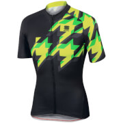 Sportful Fuga Short Sleeve Jersey - Black/Yellow