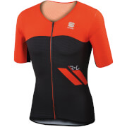 Sportful R&D Cima Jersey - Black/Fire Red