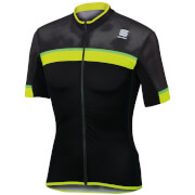 Sportful Pista Short Sleeve Jersey - Black/Yellow