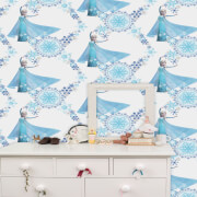 Disney Frozen Elsa Snow Queen Snowflake Blue White Wallpaper