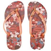 Havaianas Kids' Slim Style Flip Flops - Orange Cyber