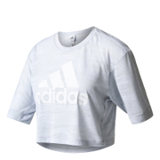adidas Women's Aeroknit Boxy Crop Top - White