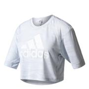 adidas Women's Aeroknit Boxy Crop Top - White