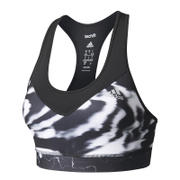 adidas Women's TechFit Graphic Medium Support Sports Bra - Black