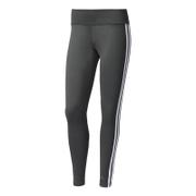 adidas Women's D2M 3 Stripe Tights - Black/White