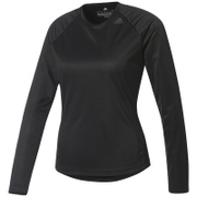 adidas Women's D2M Long Sleeve Top - Black