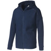 adidas Men's ZNE Travel Hoody - Storm Heather/Navy