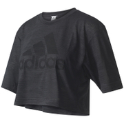 adidas Women's Aeroknit Boxy Crop Top - Black
