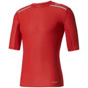adidas Men's TechFit Climachill T-Shirt - Scarlet