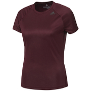adidas Women's D2M Lose T-Shirts - Maroon