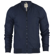 Brave Soul Men's Sanjay Padded Bomber Jacket - Navy