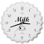 Fifty Five South Milk Bottle Cap Wall Clock - White Aluminium